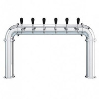 Stainless Steel 6 Faucet - 3.3 Inch Column - Glycol Cooled