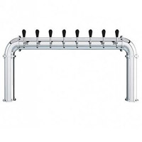 Stainless Steel 8 Faucet - 3.3 Inch Column - Glycol Cooled