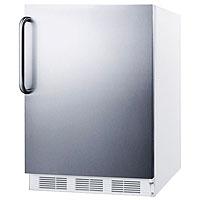 White Cabinet / Stainless Steel Door & Handle