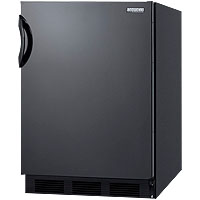5.1 Cu. Ft. ADA Refrigerator Freezer - Black Cabinet / Black Solid Door