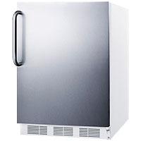 5.5 Cu. Ft. ADA Refrigerator - White Cabinet / Stainless Steel Door & Handle