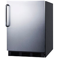 5.5 Cu. Ft. ADA Refrigerator - Black Cabinet / Stainless Steel Door & Handle