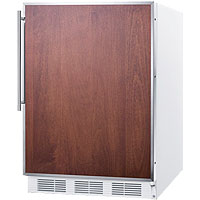 ADA Refrigerator Freezer - White with Stainless Steel Frame Door