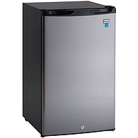 4.5 Cu. Ft. Counterhigh All Refrigerator - Black with Stainless Steel Door