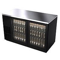 Back Bar Refrigerator w/Glass Doors - Black