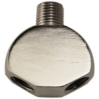 Co2 Regulator Y Splitter - Chrome Plated