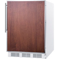 5.1 cf Built-in Refrigerator-Freezer - White Cabinet with Stainless Steel Frame Door