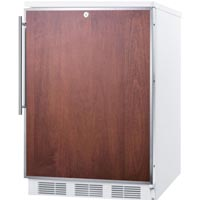 5.3 cf Built-in Refrigerator-Freezer with Lock - White