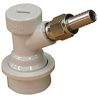 Ball Lock Home Brew Keg Tap - Gas In with Male Flare Fitting with Hose Barb