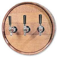 Solid Oak Barrel Head Dispenser