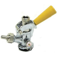 D System Keg Coupler - Gold Handle