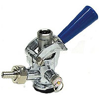 D System Keg Coupler Blue Handle with Stainless Steel Probe