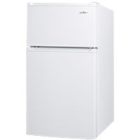 Compact Two-Door Refrigerator-Freezer with Side Locks - White