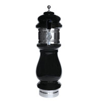 Silva Ceramic Single Faucet Draft Beer Tower - Black with Chrome Accents