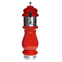 Silva Ceramic Single Faucet Draft Beer Towers - Red with Chrome Accents