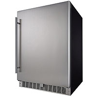 Inventory Reduction - Silhouette Professional 5.5 Cu. Ft. Outdoor Rated Refrigerator - Stainless Steel