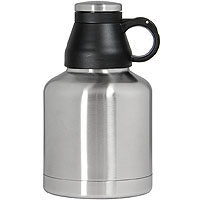 The Wolf - 32 oz Double Wall Stainless Steel Screw Cap Beer Growler