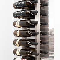 Floor-To-Ceiling Mounted Frame for Magnum Bottles - Black Satin Finish