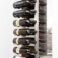 Floor-To-Ceiling Mounted Frame for Magnum Bottles - Brushed Nickel Finish