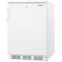 5.5 cf Undercounter All Refrigerator White w/Lock