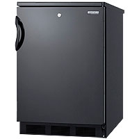 5.5 cf Undercounter All Refrigerator Black w/Lock