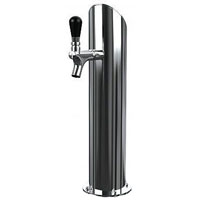 Gefest 1 Air - Polished Stainless Steel 1-Faucet Beer Tower - Air Cooled