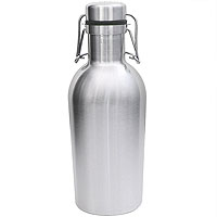 SS Growler - 32 oz Double Wall Stainless Steel Flip Top