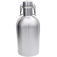 SS Growler - 64 oz Single Wall Stainless Steel Flip Top