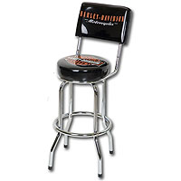 Bar & Shield Bar Stool w/ Backrest
