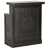 Bar & Shield Flames Bar Return - Vintage Black