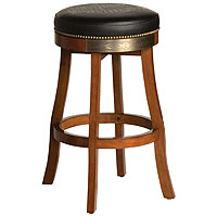 Bar & Shield Flames Bar Stool - Heritage Brown
