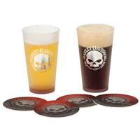 Harley-Davidson Skull Pint Glasses