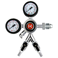 Kegco HL-62N-2 Commercial Grade Dual Gauge Two Product Regulator