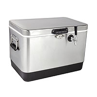 Kegco 50 Liter Single Tap Stainless Steel Jockey Box