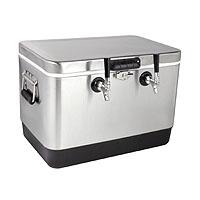 Kegco 50 Liter Dual Tap Stainless Steel Jockey Box