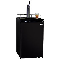 Kombucha Dispenser with Black Cabinet and Door