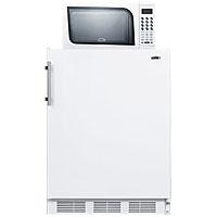 Refrigerator-Freezer-Microwave Combo - White
