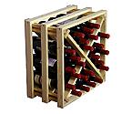 Allavino Pronto Wine Rack 24 Bottle Redwood Lattice X-Bin Stackable Cube PRL2124X
