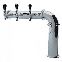 Stainless Steel Persey 3 Faucet Elbow Style Draft Beer Tower - 3.3 Inch Column - Glycol Cooled