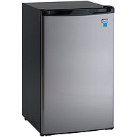 4.4 CF Counterhigh Refrigerator - Black with Stainless Steel Door