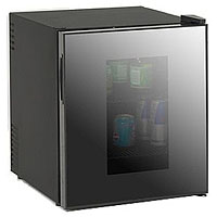 1.7 Cu. Ft. Deluxe Beverage Cooler - Black Cabinet and Mirror Framed See Thru Door