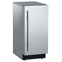 Ice Maker 65 lbs. Gravity Drain - Stainless Steel Cabinet and Unfinished Door