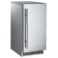 Outdoor Nugget Ice Maker 80 lbs. Drain Pump  - Stainless Steel Cabinet and Door