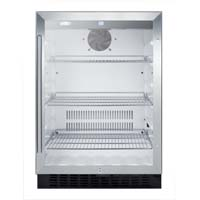 4.86 cf Glass Door All Refrigerator - Stainless Steel Trim Door