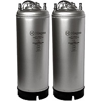 5 Gallon Ball Lock Keg - Strap Handle - Made in Italy - Set of 2