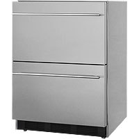 Stainless Steel 2-Drawer Refrigerator, ADA Compliant - ETL-S Listed