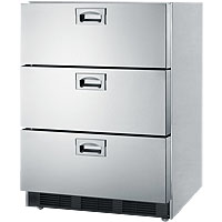 Stainless Steel 3-Drawer Refrigerator, ADA Compliant - ETL-S Listed