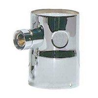 Single Product Tower Adapter - 2 Holes, 1 Shank Assembly - Chrome