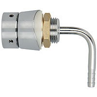 Stainless Steel Elbow Shank Assembly with Long Down Tube
