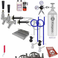 Ultimate Dual Keg Tap Door Mount Homebrew DIY Kegerator Conversion Kit